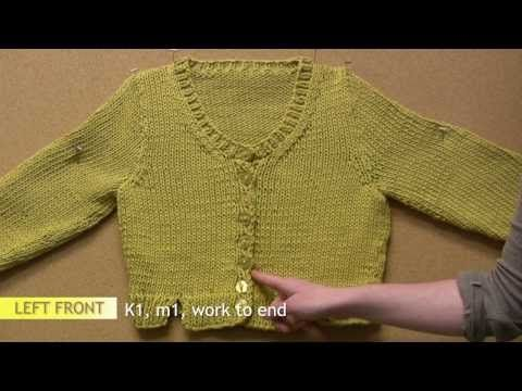 How to Knit a Sweater Part 5: Front Neck Shaping - YouTube
