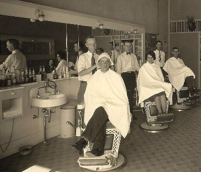 Towery Barber Shop on Fisk Avenue 1950 photo courtesy Britt E. Towery ...