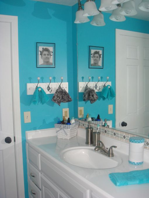 Tiffany blue bathroom i love home pinterest - Tiffany blue bathroom ideas ...