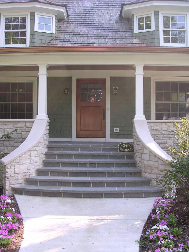 Cook architectural design studio bluestone steps lead to for Bluestone front porch