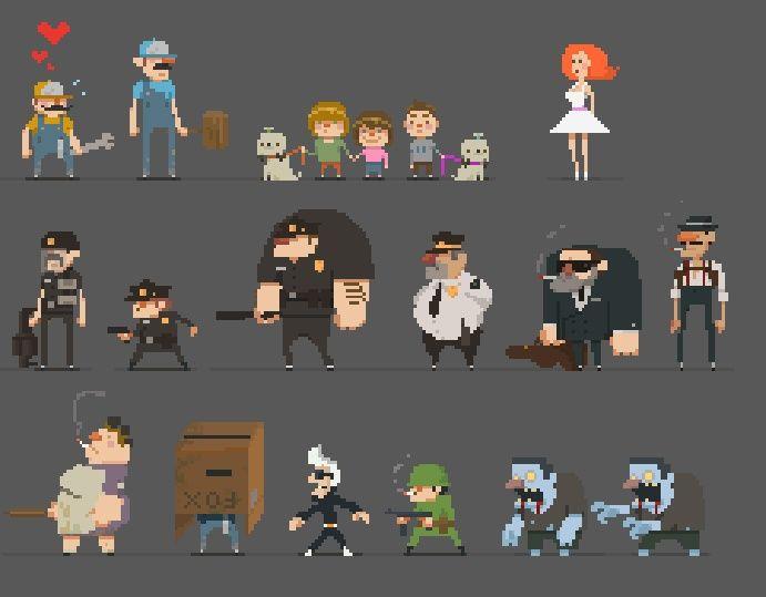 Character Design Pixel Art : Character style pixel art pinterest