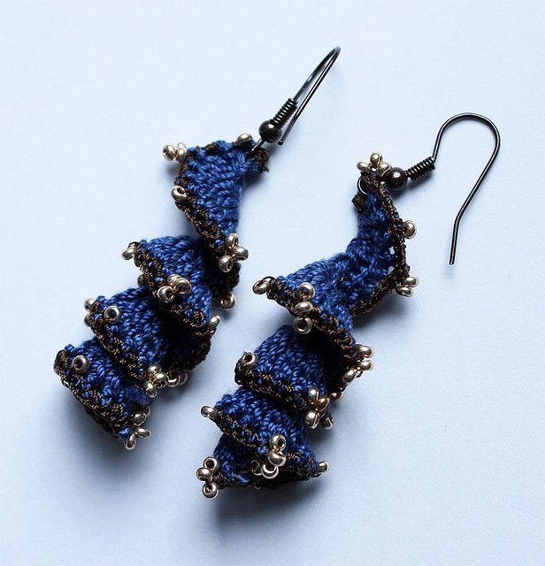 Free Crochet Spiral Earrings Pattern : crochet spiral earrings crochet accessory 7 Pinterest