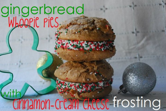 Gingerbread Whoopie Pies with Cinnamon Cream Cheese Frosting