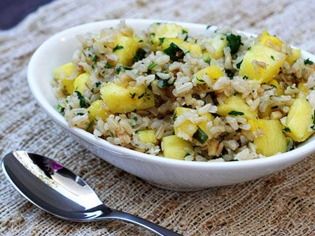 Pineapple Fried Rice Posted by Adventures in the Kitchen Bring the ...