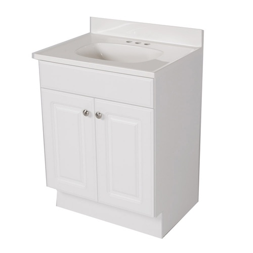 Project source 24 1 2 in white bath vanity with top