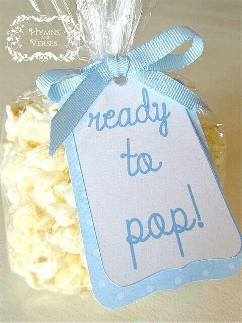 Boy Baby Shower Favor Ready to Pop Popcorn 480 x 640