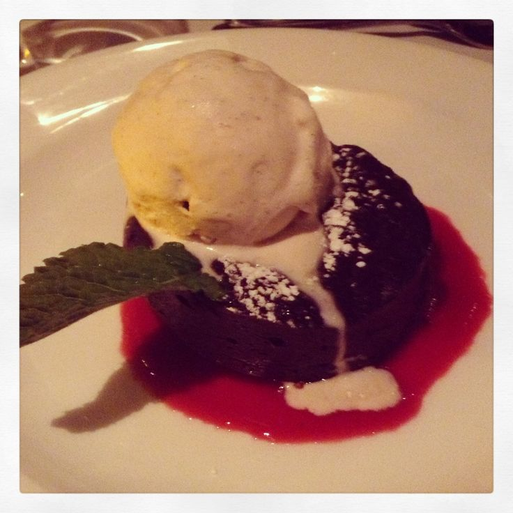 Warm Chocolate cake w/ice cream in Boston's North End