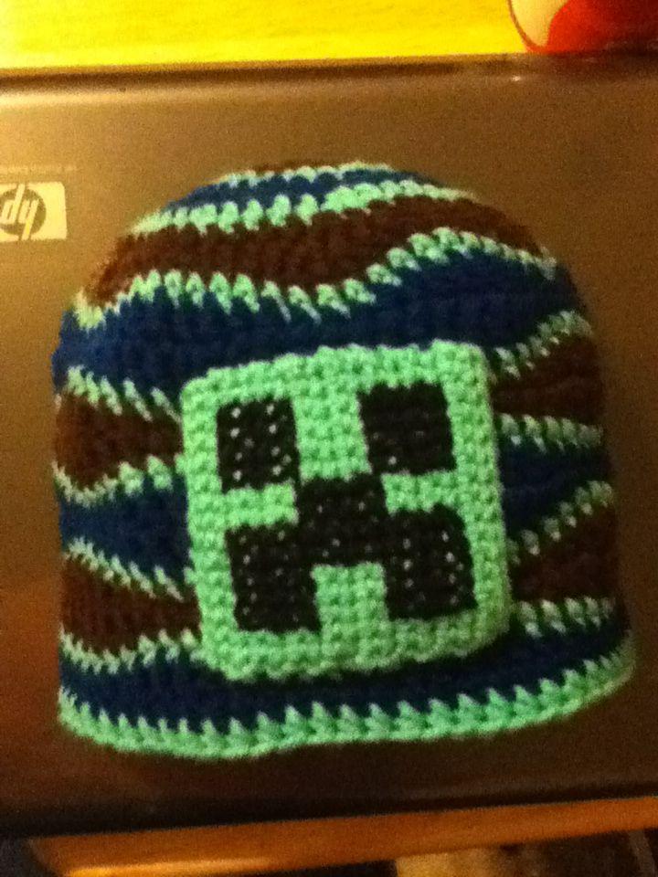 Free Crochet Pattern For Minecraft Creeper Hat Dancox For