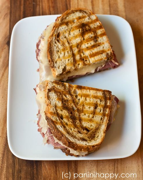 Reuben Panini   irresistible food   Pinterest