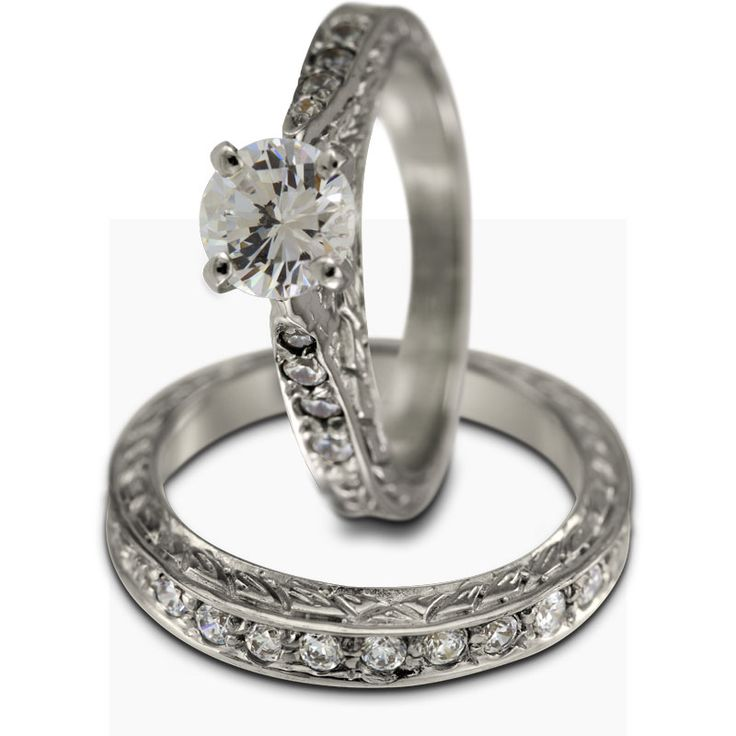 piece cathedral engagement setting in white gold this two piece ring