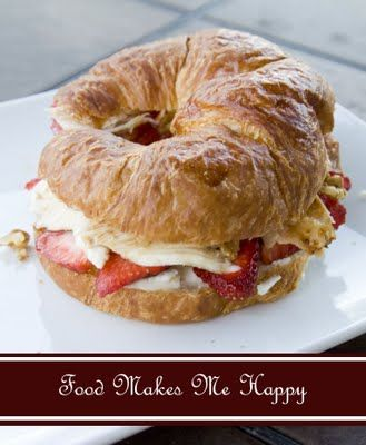 "strawberry & ricotta | ""What if I had a croissant blog"" 