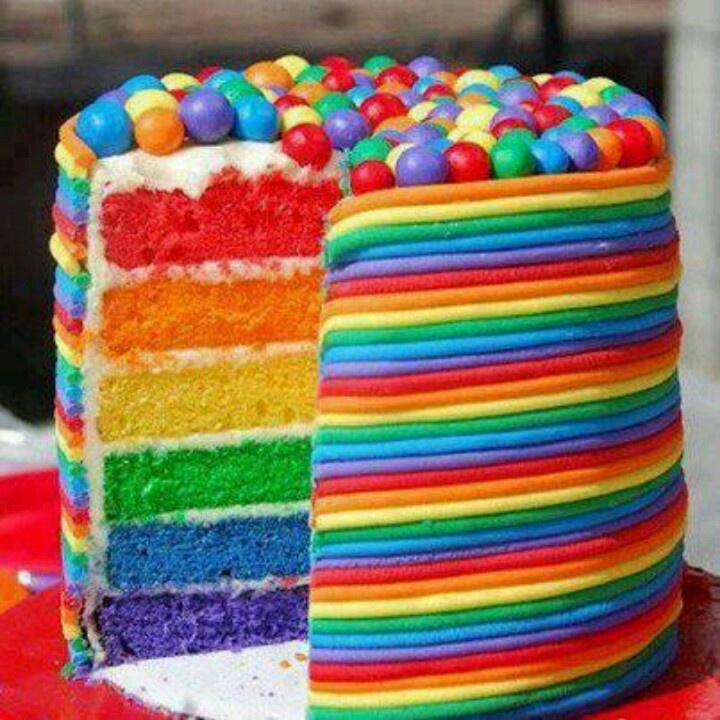 Rainbow Layer Cake | Cool Cakes & Crap | Pinterest