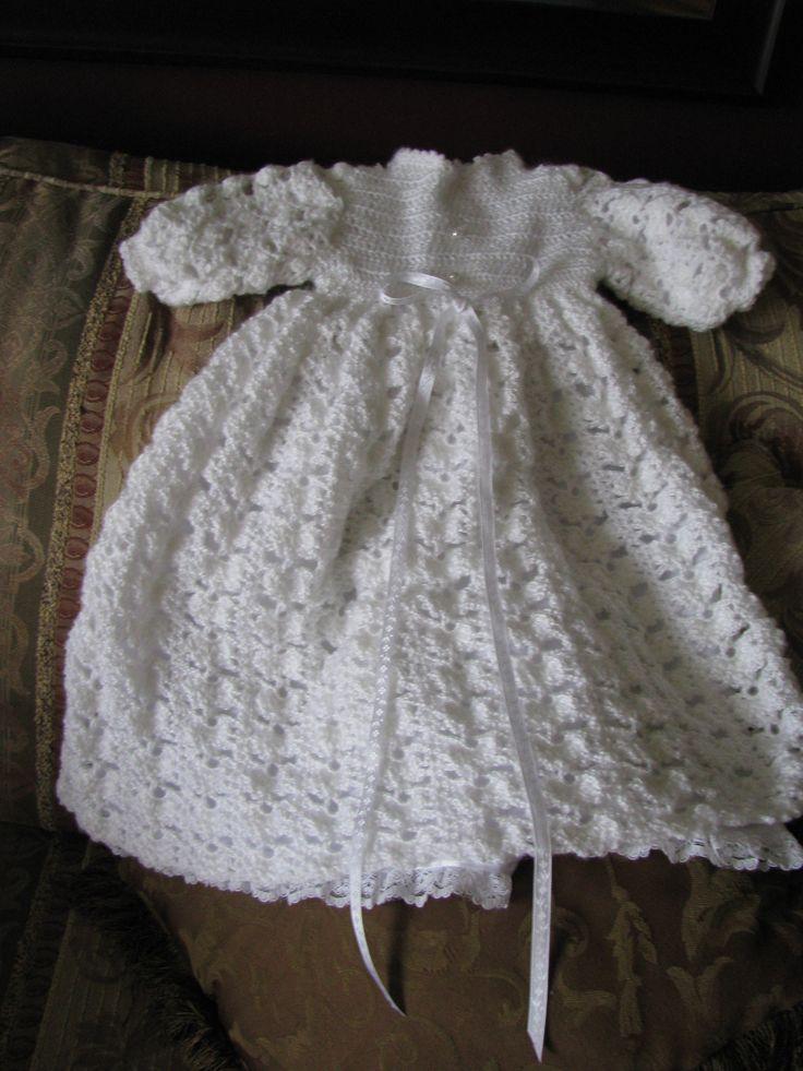 Crochet Pattern For Christening Gown : Crochet Christening Gowns Free Patterns images