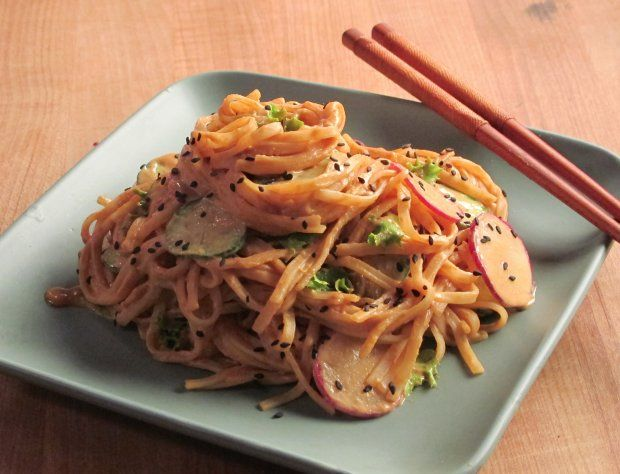 rich sesame-peanut dressing clings to the noodles and makes for a ...