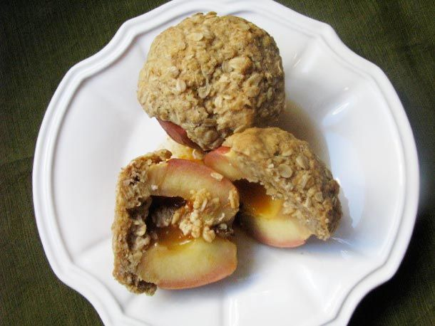 Rum-Filled Baked Apples with Oat Crumble from Serious Eats. http ...