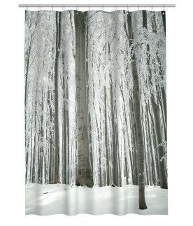 Winter forest shower curtain for the home pinterest