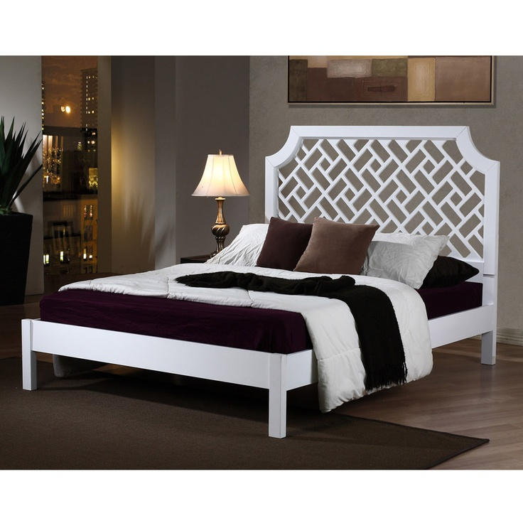 Trellis queen size bed for Queen bed against wall