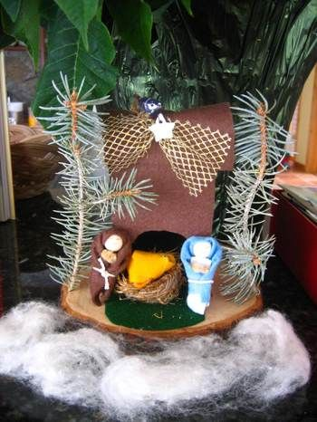 Homemade nativity ornament next year advent maybe break it up and