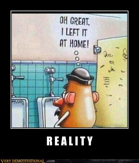 Or Mrs Potato Head is carrying it around with her