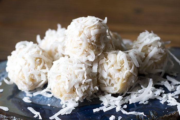 No-Bake Coconut Snowballs Recipe - Prudent Baby