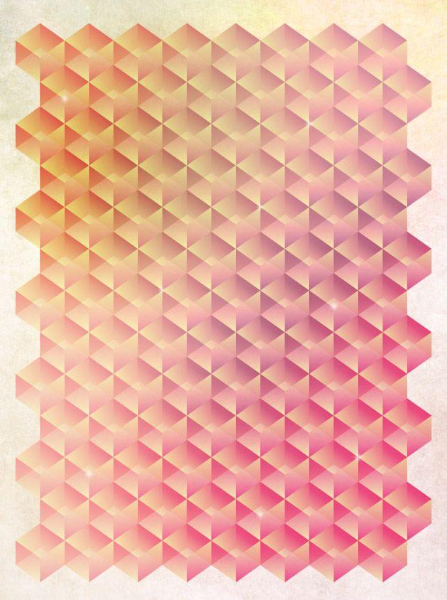 Tessellating Geometric poster design