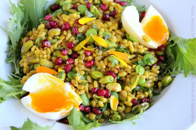 Pearl Barley Salad with Pistachios, Favas & Pomegranate 1 by Couscous ...