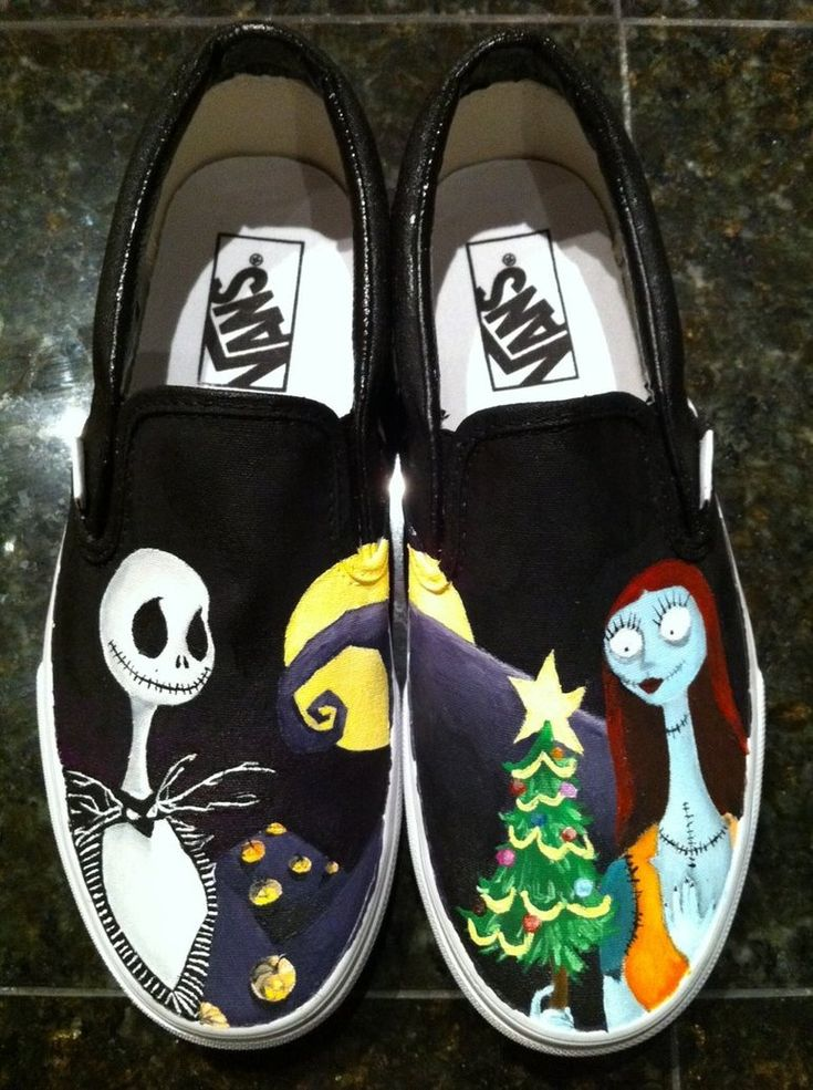 Nightmare Before Christmas Shoes. They're Vans and they're Jack and