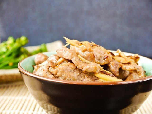 Stir-Fried Ginger Pork (Can be made with Chicken instead)