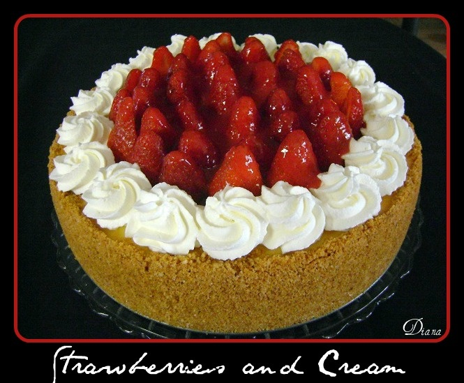 Strawberries and Cream Cheesecake | appetite | Pinterest