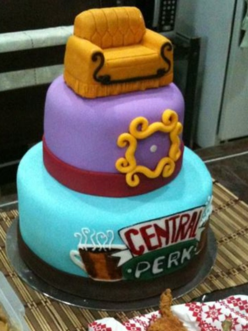 Central Perk Friends Cake Future Parties Pinterest