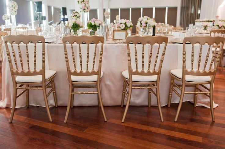 Gold Napoleon Chairs With White Cushion Sillas Tiffany Y Napoleon