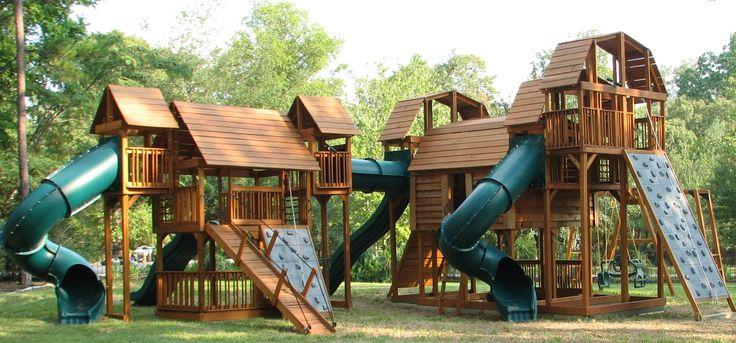 Custom Backyard Play Structures : backyards