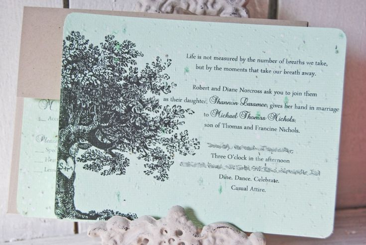 Plantable Wedding Invitations and get inspiration to create nice invitation ideas