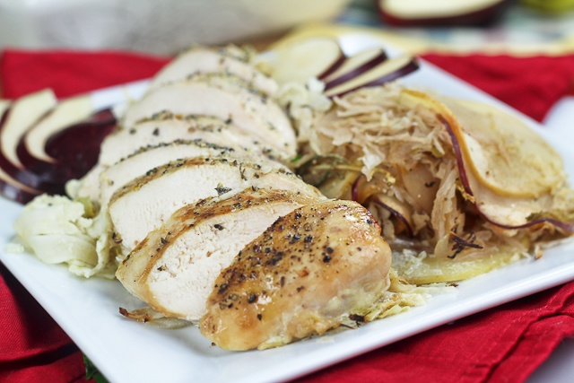 Apple and Cabbage Oven Baked Chicken - took two hours, try skin-on ...