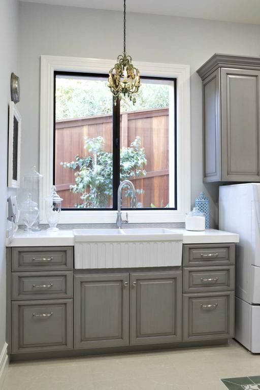 Gray laundry cabinets laundry rooms pinterest for Laundry room cabinets