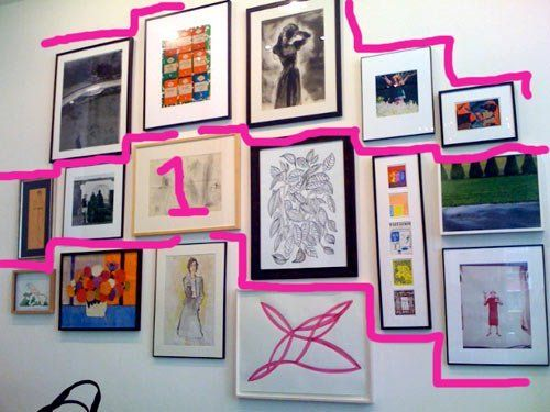 how to hang art in groups like kate spade