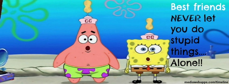 Spongebob and patrick best friends forever quotes