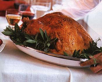 ... with Herbed Bread Stuffing and Giblet Gravy Recipe | Epicurious.com