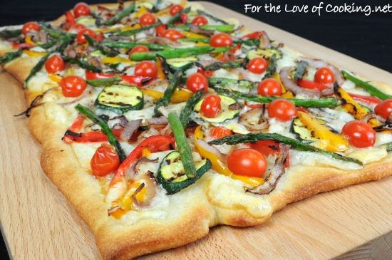 Grilled Vegetable and Smoked Fontina Pizza .... great, even for those ...
