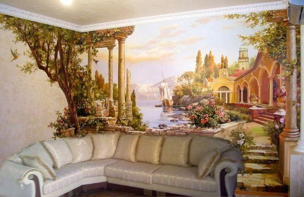 Роспись стен квартир цена