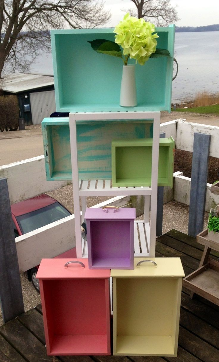 Redone Furniture Recycling DIY Painted Old Drawers Redo Remake