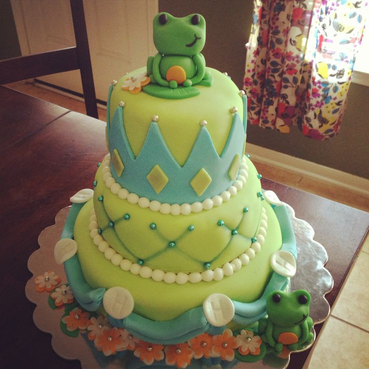 First Birthday Cake Ideas Girl And Frogs