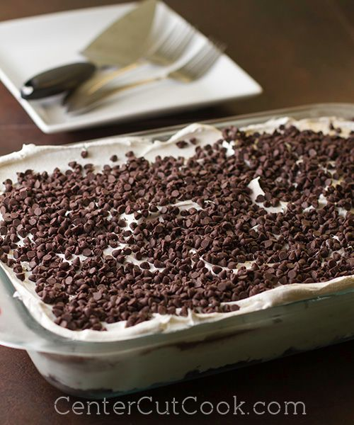 chocolate lasagna :) (oh gosh this just looks so unhealthy!)