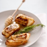 Grilled Pear Brie and Honey Crostini   Recipes under 400 calories   P ...