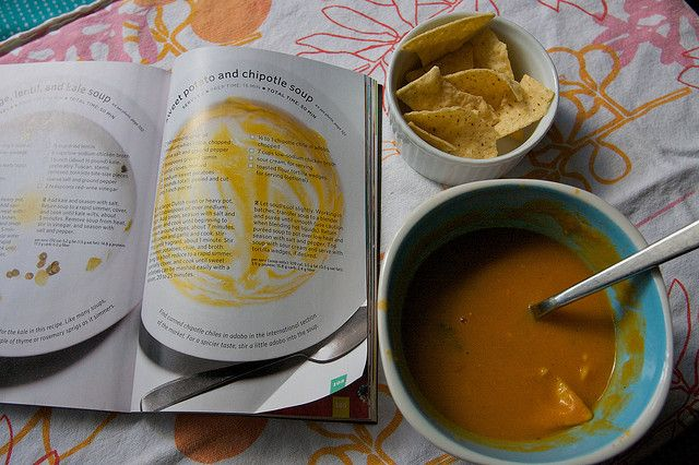 Sweet potato and chipotle soup-This is a little out of my comfort zone ...