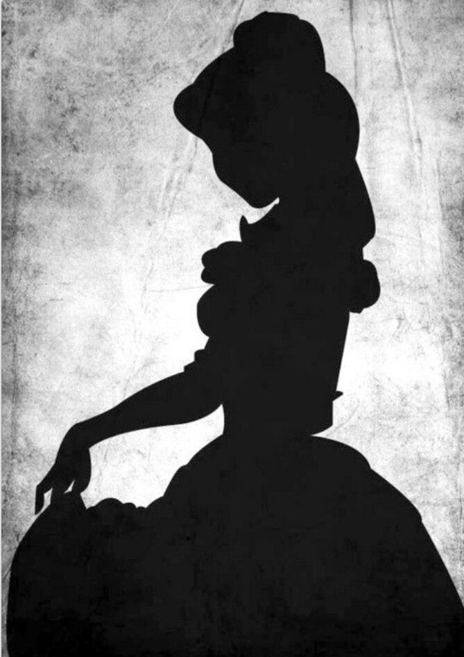 Gallery For gt Beauty And The Beast Silhouette Belle