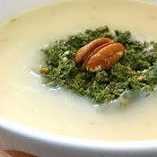 Potato Turnip Soup with Greens Pesto....a wonderful meal for a chilly ...
