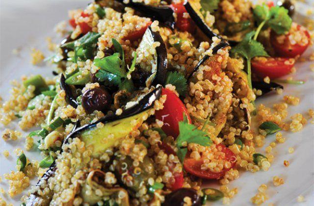 Spiced quinoa and eggplant salad recipe. | Healthy living | Pinterest