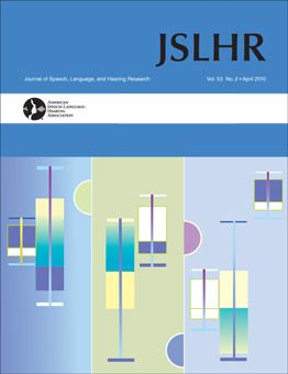 journal of speech language and hearing research: