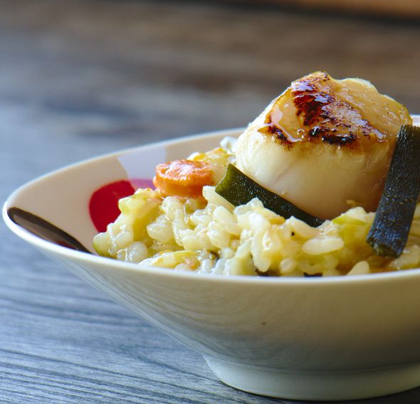 Risotto seaweed and scallops | Starchy Side Dishes | Pinterest